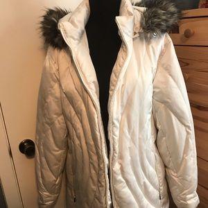 A.N.A puffy faux fur coat